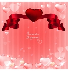 07 Banner hearts background vector image