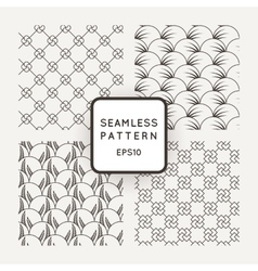 A set of four seamless floral and geometric vector