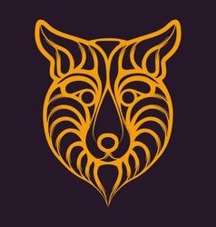 Abstract fox logo vector