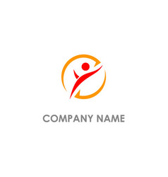 active people dance logo vector image