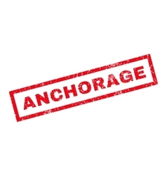 Anchorage Rubber Stamp vector