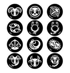 astrology symbols zodiac signs isolated vector image