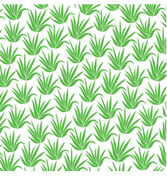 Background pattern with aloe plant icons vector