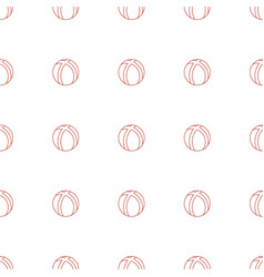 Ball icon pattern seamless white background vector