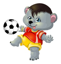 bear and ball vector image