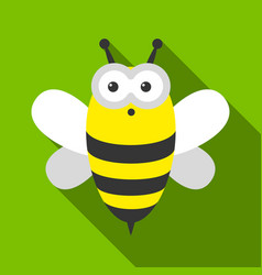 bee flate icon for web and mobile vector image
