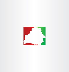 belarus map logo icon vector image