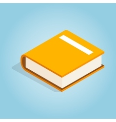 Big book icon isometric 3d style vector