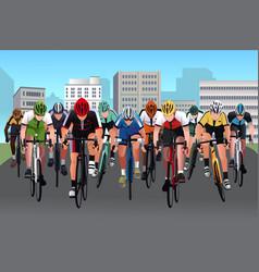 Bike race vector