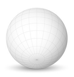 blank planet earth white globe with grid of vector image