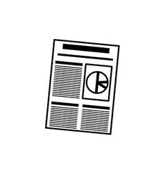 Business finance report vector image
