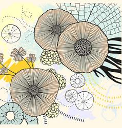 Circle watercolor acrylic beautiful background vector
