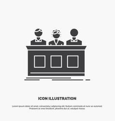 competition contest expert judge jury icon glyph vector image