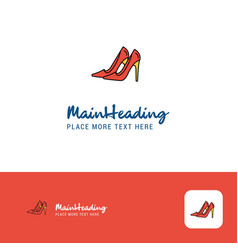 creative sandals logo design flat color logo vector image