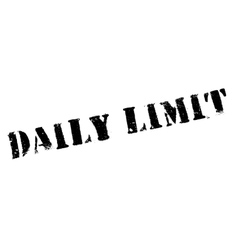 Daily limit rubber stamp vector