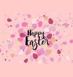 easter eggs confetti vector image