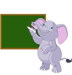 Elephant writing on blackboard vector