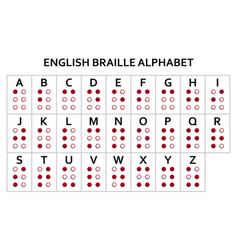 english version of braille alphabet vector image