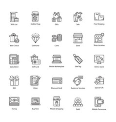 eye-catching shopping and commerce icons vector image