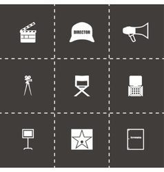 Filming icon set vector image
