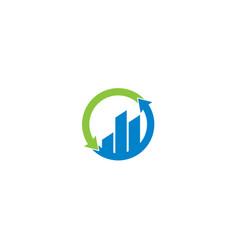 Finance bar and arrow logo design template vector