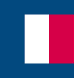 flag of france symbol of independence day vector image
