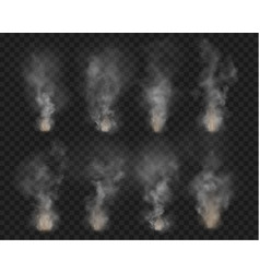 fog and smoke fire isolated on transparent vector image
