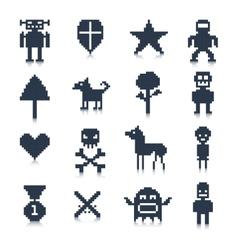 Game Pixel Characters vector