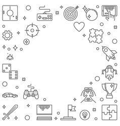 games frame or in outline vector image