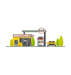 Gas oil station vector