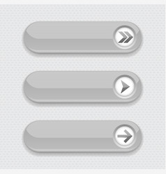 gray interface buttons with arrows vector image