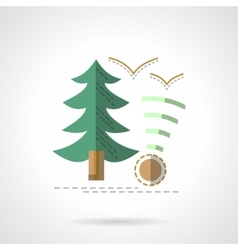 Green fir Outdoor rest flat icon vector image