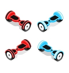 Gyroscooter Set Isometric View vector