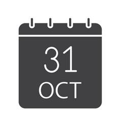 Halloween date glyph icon vector