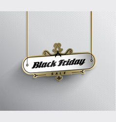 hanging black friday sale sign with dotted vector image