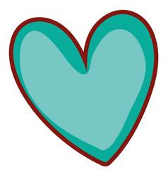 Heart shape doodle vector