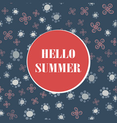 Hello summer holiday typographic with vector