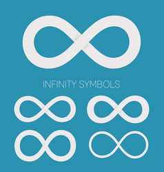 infinity symbols set different shapes vector image