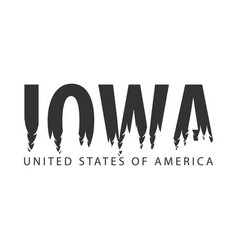 iowa usa united states of america text or vector image vector image