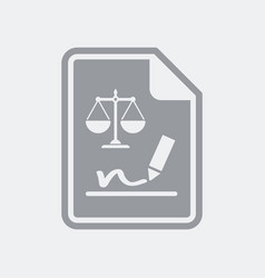 legal document signature icon vector image
