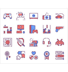 leisure activities colorful linear icons set vector image