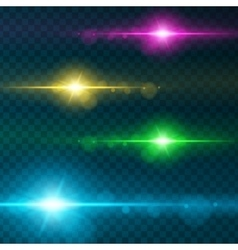 Light effect flare lighting vector