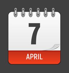 March 17 calendar daily icon world health day vector
