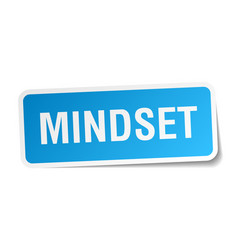 Mindset square sticker on white vector
