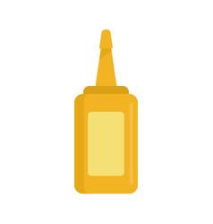 Mustard bottle icon flat style vector