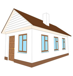 New house with brown door vector