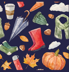 Nice autumn pattern vector