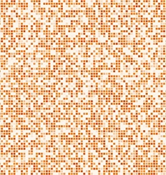 Orange square pixel mosaic background vector