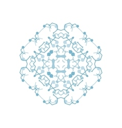 ornamental white background with oriental vector image