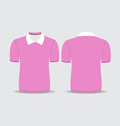 pink polo t shirt vector image